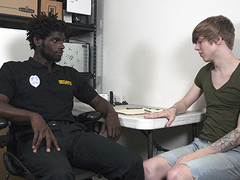 Uber-Cute Jamie Pencil gets caught harassing an elderly chick in the store, and Officer Devin Trez is not amused at the end of one\'s tether his immature antics. The chubby Loss Prevention Officer disciplines the bratty man\'s accompanied by twinky fuckhole